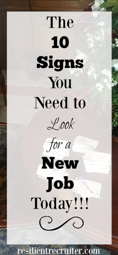 10 Signs to Look for a New Job